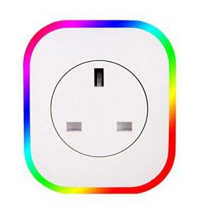 Wifi Smart Socket Power Board USB Night Light Rgb Coloré Ambiance Lumières Télécommande Voix Compatible avec Amazon Alexa Google Home, Nanayayaya