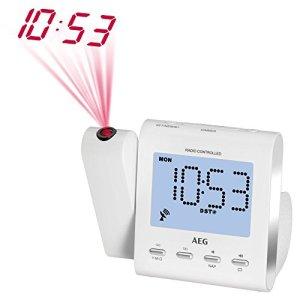 AEG MRC 4122 Radio F radio-réveil avec projection blanc
