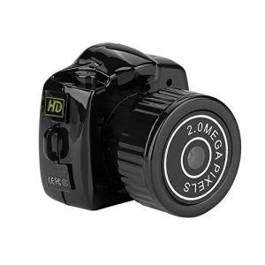 ASHATA Mini Caméra Numérique, Mini Caméra Vision Nocturne Vidéo DVR Webcam Numérique Caméscope Support Carte TF 32 Go