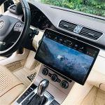 Autoradios 180 degrés Rotatif IPS écran tactile 4G + 32G GPS WIFI 3G 4G FM AM Radio en charge la détection balance des véhicules de 12,8 pouces for Android 8.1 Car Stereo Soutien commande au volant