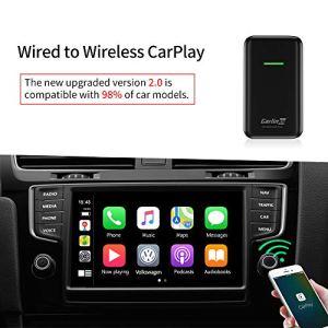 Carlinkit 2.0 CarPlay sans Fil Activator pour Les Voitures CarPlay câblées en Usine, pour Audi/Porsche/Volvo/Mercedes/Volkswagen/KIA/Hyundai, Mise à Jour en Ligne, iOS13 ou supérieur, USB Type A/C