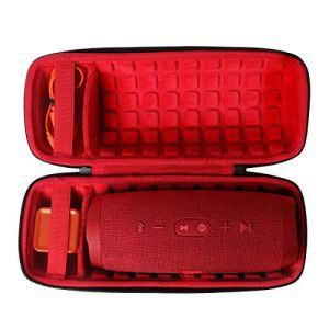co2CREA Dur Étui de Voyage Rigide Housse Cas pour JBL Charge 4 Enceinte Bluetooth Portable(boîte Seule)(Rouge)