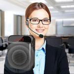 Draulic Haut-parleur Bluetooth à amplificateur de langue portable multifonction avec microphone personnel pour cours et instructions (français non garanti)