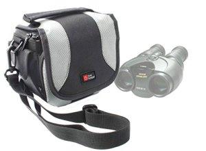 Duragadget Etui de Transport pour VicTop New HD 16×52 Dual Focus téléscope Longue Vue – Noir/Gris et bandoulière détachable
