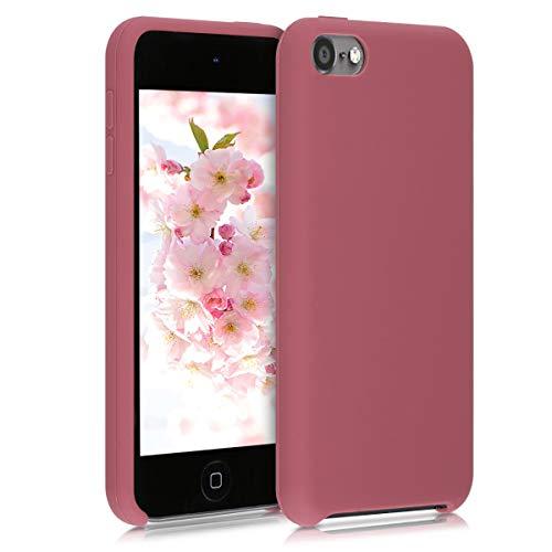 kwmobile Étui Compatible avec Apple iPod Touch 6G / 7G (6ème et 7ème génération) – Coque Protection en Silicone pour Lecteur MP3 Rose Sombre