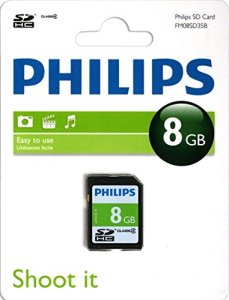 Philips FM08SD35B/10 8192 Mo Carte mémoire SDHC