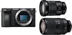 Sony α 6500 + 18-105mm + 70-300mm Kit d'appareil-Photo SLR 24,2 MP CMOS 6000 x 4000 Pixels Noir – Appareils Photos numériques (24,2 MP, 6000 x 4000 Pixels, CMOS, 4K Ultra HD, Écran Tactile, Noir)