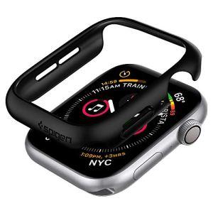 Spigen Thin Fit Compatible avec Apple Watch Coque pour 44mm Series 6 / Se/Series 5 / Series 4 – Noir
