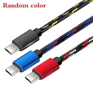 Weichuang Câbles de Charge 2A données Chargeur Câble USB Câble de Charge Rapide Android Câble de Charge de Ligne en Nylon tressé en Aluminium 2A Chargeur Câble de Charge Chargeur (Color : Random)