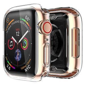 ALOUCH [2 Pack Coque Apple Watch Series 5/Series 4 40mm, iWatch 5 Case Protection Ecran Couverture Complète Ultra Transparent Film en TPU Souple Convient, pour Apple Watch Series 5/Series 4 40mm