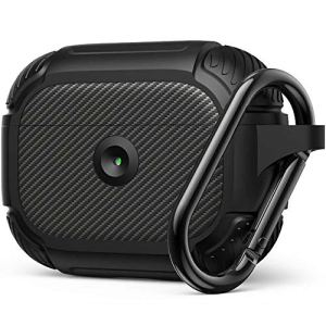 amBand Coque AirPods Pro, Rugged Armor Coque Protection airpods Pro Case Compatible avec Apple AirPods Pro Étui AirPods Pro Case – Noir