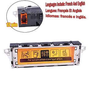 Amzparts Écran RD4 multifonction pour voiture avec changeur de CD Jaune Interface 12 broches pour Peugeot 307 407 408 C5