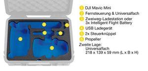 B&W Étui de Protection Type 2000 avec Incrustation DJI Mavic Mini pour DJI Mavic Mini et DJI Mavic Mini Fly More Combo Noir