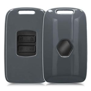 kwmobile Accessoire Clé de Voiture Compatible avec Renault Smart Key 4-Bouton (Keyless Go Uniquement) – Coque de Protection en Plastique Rigide Anthracite