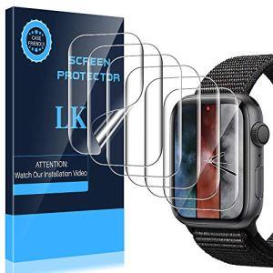 LK Protection écran pour Apple Watch 44mm Serie 4 [6 Pièces], Peau Liquide [sans Bulles] Transparent TPU Film Protection écran pour Apple Watch 44mm Serie 4