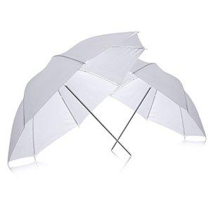 Neewer 90005898 – Lot de 2 Parapluies Blanches Studio 83 cm Éclairage Studio Photo Professionnel Translucide Souple