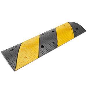PrimeMatik – Protection au Sol pour câbles en Caoutchouc 1 Voies 99 x 30 cm avec ralentisseur