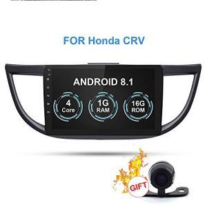 RISHENG Lecteur multimédia pour l'autoradio – 2en Android 8.1 Autoradio GPS Enregistreur Audio à Cassette – pour CR-V CRV 2012-2016,B