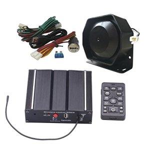 SA Comme 100W Fédéral Sirène Kit as7100d-spk0021Lot de 3Lot de 20tons 12V avec sirène boîte Haut-parleur Télécommande sans fil microphone Convient pour différents véhicules