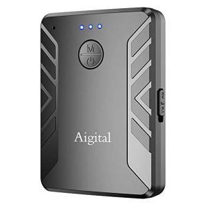 Transmetteur Bluetooth 5.0 Émetteur et Récepteur 2 en 1 Bluetooth Adaptateur Audio sans Fil Sortie Stéréo de 3,5 mm aptX Double Appairage pour TV, PC, Système Stéréo de Voiture/Maiso