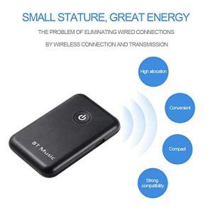 Transmetteur Bluetooth Receiver YU-106 Deux en Un sans Fil Bluetooth 4.2 Musique (Couleur: Noir)