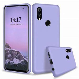 Ttimao Compatible avec Les Coque Xiaomi Redmi Note 8 Silicone Liquide Gel Étui+1*Protecteur D'écran Anti-Choc Housse Protection avec Soft Microfiber Cloth Lining Cushion-Violet