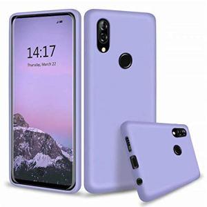 WJMWF Compatible avec Les Coque Xiaomi Redmi Note 8T Ultra Fine Liquide Silicone Gel Original Housse Etui [Protecteur D'écran] Anti-Rayures Anti-Choc Coquille-Violet