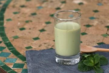 crème végétale matcha menthe, sans lactose, IG bas