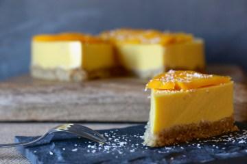cheesecake mangue, IG bas, pauvre en sucre