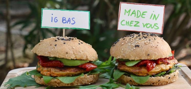 hamburgers veggies, IG bas