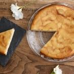 Gâteau au fromage blanc et pommes caramélisées