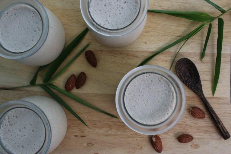 yaourts au lait d'amande