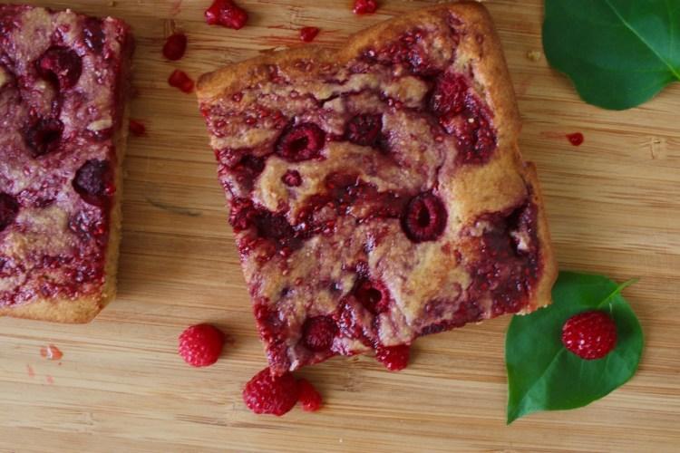 Gâteau aux framboises IG bas
