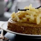 Gâteau de semoule d'orge à l'ananas