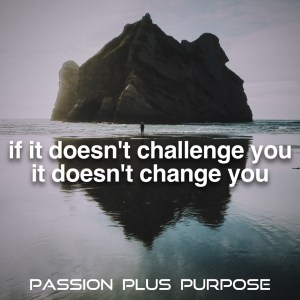 PassionPlusPurpose - If it doesn't challenge you, it doesn't change you.JPG