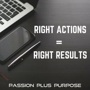 PassionPlusPurpose - Right actions = right results