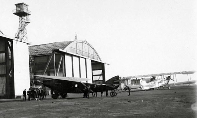 """Bernard 191 GR n°1 """" France"""" sur le tarmac du Bourget en 1928 ©Jacques Hémet"""