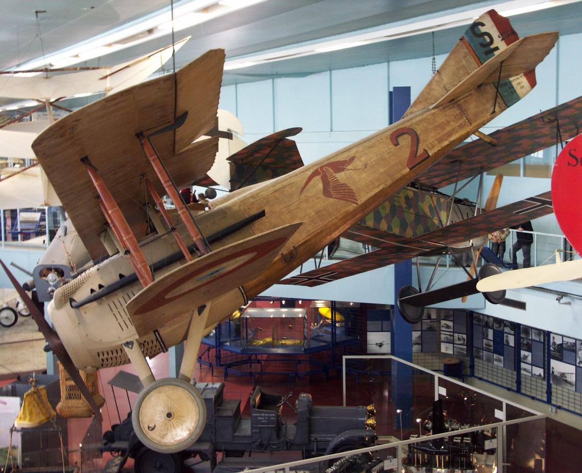 Le Spad VII S 254 de Georges Guynemer au Musée de l'air et de l'espace du Bourget en 2008. ©Xavier Cotton