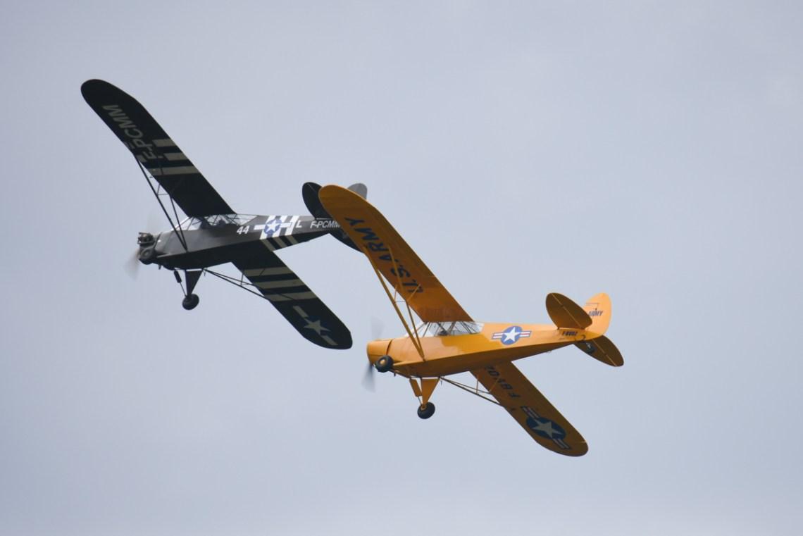 Piper L4 F-PCMM et PA19 F-BVOZ