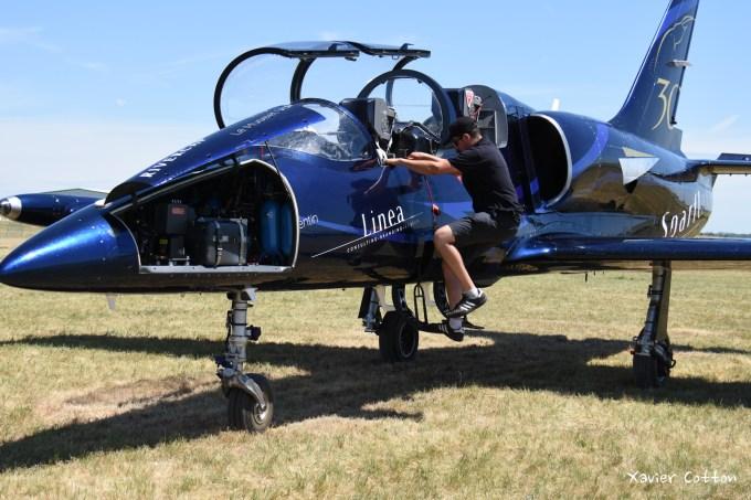 L39 Albatros LX-MIK patrouille Sparflex lors du meeting d'Epernay 2015 ©Xavier Contton
