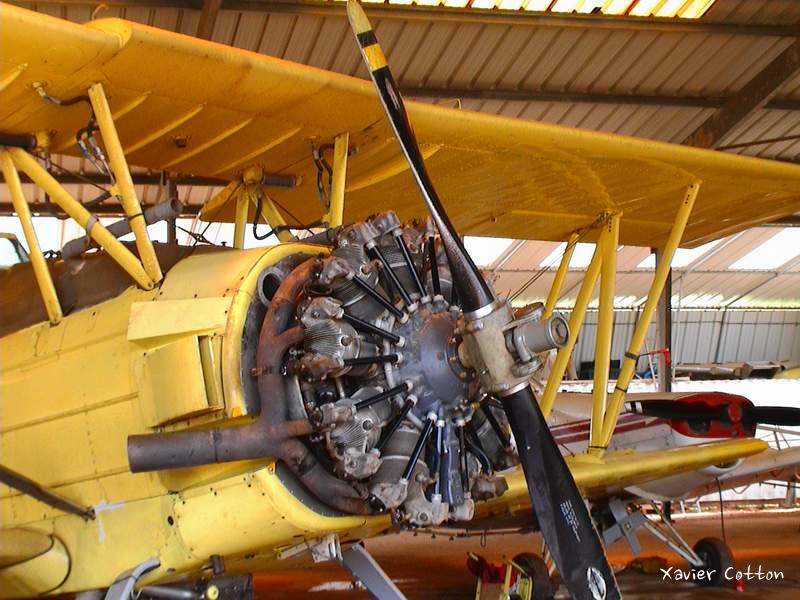 Moteur Pratt et Whitney sur Grumann Ag-Cat F-HORZ ©Xavier Cotton