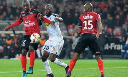Ligue 1: Angers met fin à sa bonne lancée à Guingamp