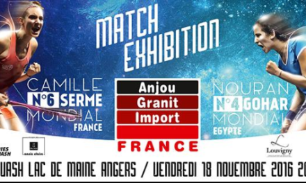 Le Squash du Lac du Maine à Angers accueille un match exhibition entre deux des meilleures joueuses du monde !