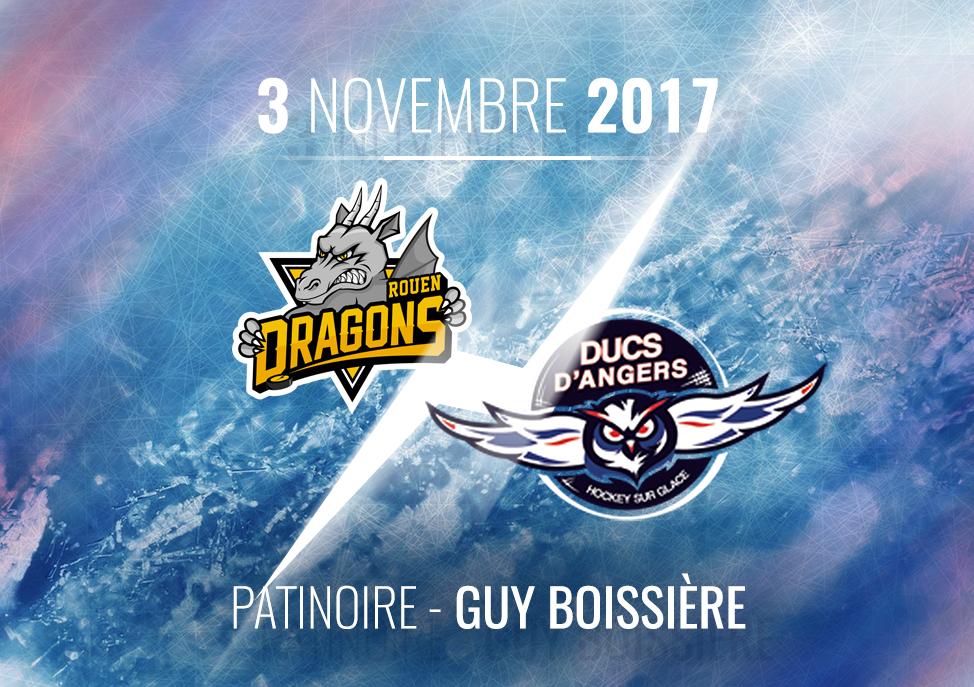 Ligue Magnus (19e journée) : Les Ducs d'Angers se déplacent chez les Dragons de Rouen, ce vendredi, à 20H00 !