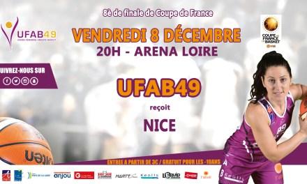 Basket (Coupe de France) : L'UFAB49, reçoit les Niçoises du Cavigal, pour une place en quart de finale !