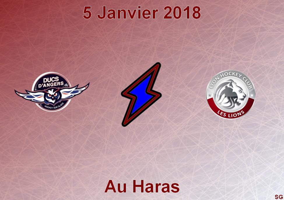 Ligue Magnus (32e journée) : Angers reçoit Lyon, ce vendredi à 20h30.