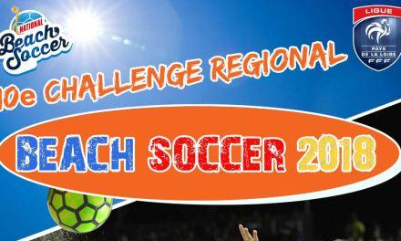 Dixième Challenge Régional Beach Soccer de la Ligue de Football des Pays de la Loire.