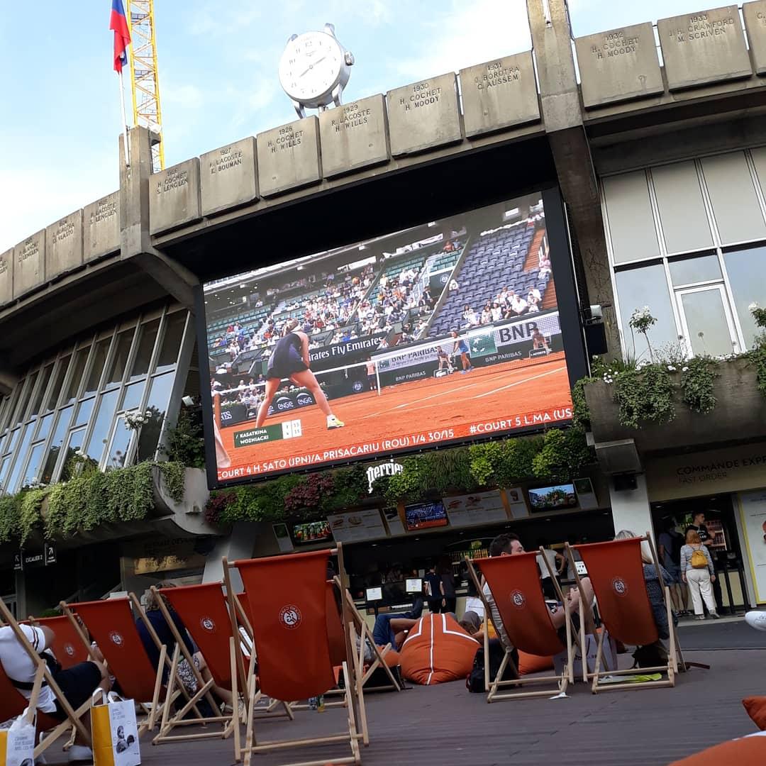 Ecran géant de Roland Garros