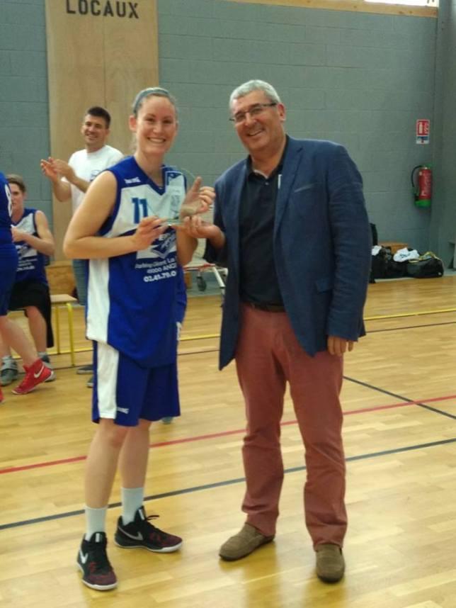 Laura MARTIN, avec ses 19 points, est élue MVP de la rencontre