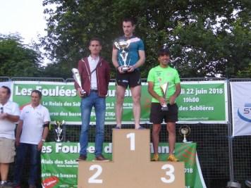 Le podium du 20 km.